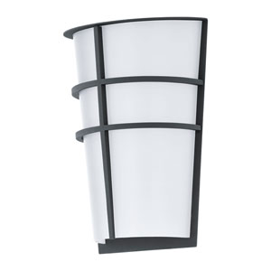 Breganzo Anthracite 7-Inch LED Outdoor Wall Sconce