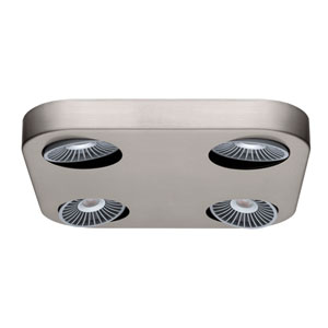 Montale LED 11-Inch Matte Nickel Four-Light Track Light