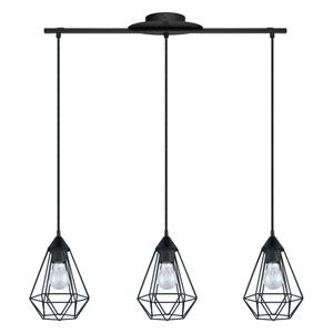 Tarbes Matte Black Three-Light Pendant