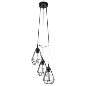 Tarbes Black 12-Inch Three-Light Pendant