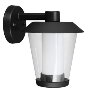 Blyth LED Black One-Light Outdoor Wall Sconce with Downward Arm