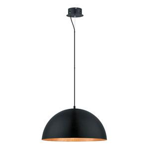 Gaetano Black and Gold 21-Inch One-Light LED Pendant
