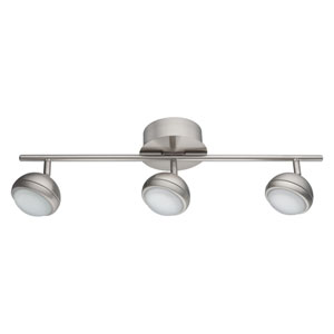 Lombes Matte Nickel Three-Light Track Light