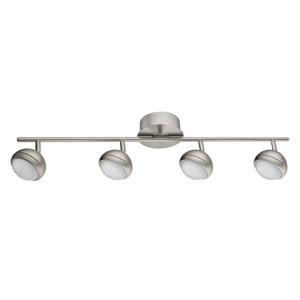 Lombes Matte Nickel Four-Light Track Light