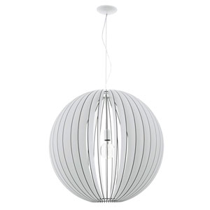 Cossano 27-Inch White One-Light Pendant