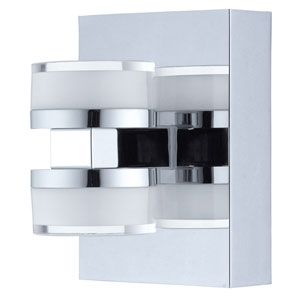 Romendo Chrome 4-Inch Two-Light Wall Sconce