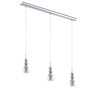 Bolanos Chrome Three-Light Pendant