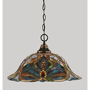 Any Black Copper 19-Inch One-Light Pendant