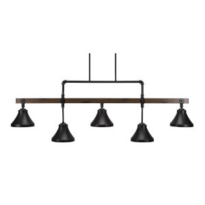 Portland Dark Granite Seven-Inch Five-Light Island Chandelier