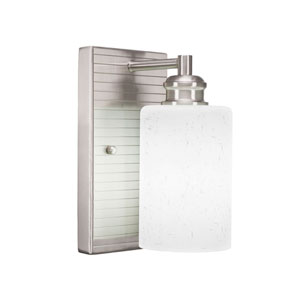 Edge Brushed Nickel Three-Inch One-Light Sconce