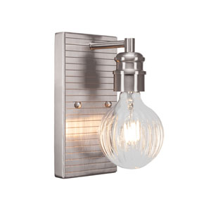 Edge Brushed Nickel Four-Inch LED Sconce