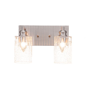 Edge Brushed Nickel Two-Light Bath Vanity
