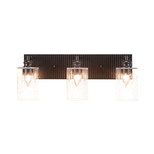 Edge Espresso Three-Light Bath Vanity