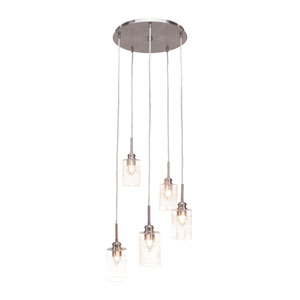 Edge Brushed Nickel 19-Inch Five-Light Mini Pendant
