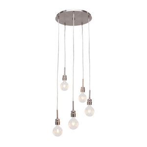 Edge Brushed Nickel 20-Inch LED Mini Pendant