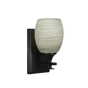 Uptowne Dark Granite Five-Inch One-Light Wall Sconce with Gray Linen Glass