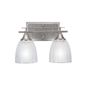 Uptowne Aged Silver 15-Inch Two-Light Bath Vanity