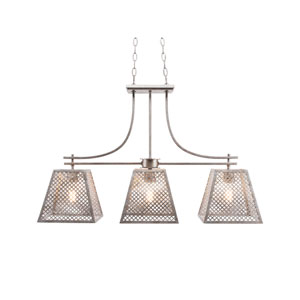 Corbello Aged Silver Three-Light LED Island Pendant