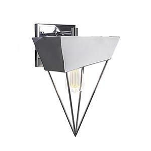 Neo Chrome Triangular 11-Inch One-Light Wall Sconce