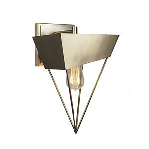 Neo Pyramid Brushed Nickel 11-Inch One-Light Wall Sconce