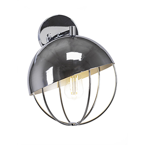 Neo Chrome Globe 11-Inch One-Light Wall Sconce