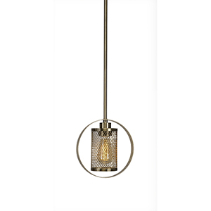 Infinity Brushed Nickel 39-Inch One-Light Pendant