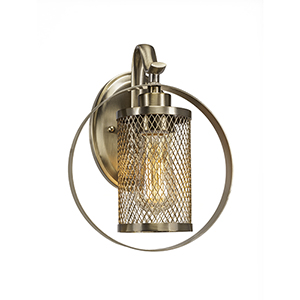 Infinity Aged Silver 39-Inch One-Light Wall Sconce