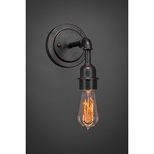 Vintage Dark Granite Two-Inch One-Light Wall Sconce
