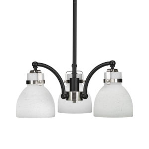Easton Matte Black and Brushed Nickel Three-Light Chandelier