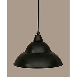 Any Matte Black 13-Inch One-Light Pendant