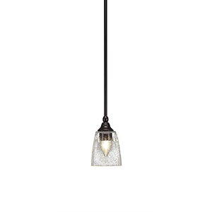 Any New Age Brass Seven-Inch One-Light Mini Pendant with Clear Bubble Glass
