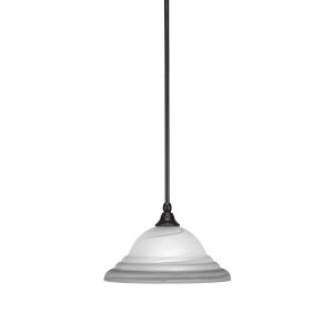 Any Espresso 12-Inch One-Light Pendant with White Alabaster Swirl Glass