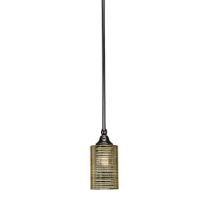 Stem Espresso Four-Inch One-Light Mini Pendant