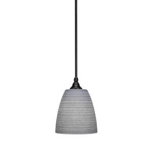 Stem Matte Black Eight-Inch One-Light Mini Pendant