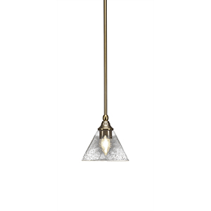 Any New Age Brass Seven-Inch One-Light Mini Pendant with Clear Bubble