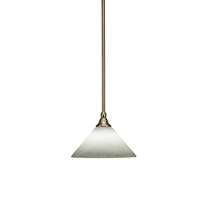 Any New Age Brass 10-Inch One-Light Pendant with White Muslin