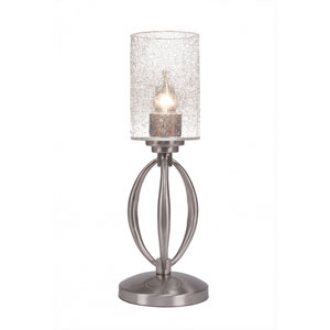 Marquise Brushed Nickel One-Light Table Lamp with Clear Bubble Glass