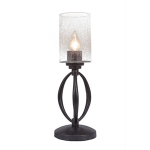Marquise Dark Granite One-Light Table Lamp with Clear Bubble Glass