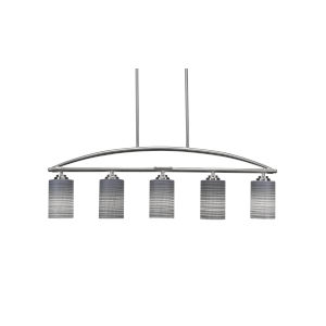 Marquise Brushed Nickel Four-Inch Five-Light Island Chandelier