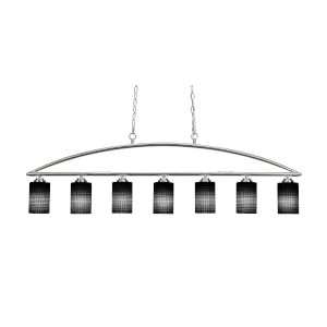 Marquise Brushed Nickel Four-Inch Seven-Light Island Chandelier