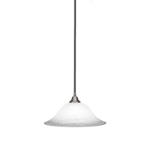 Any Brushed Nickel 20-Inch One-Light Pendant with White Alabaster Glass