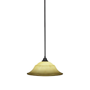 Any Espresso 20-Inch One-Light Pendant with French Marble Glass