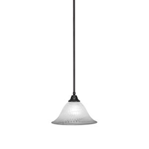 Any Espresso 14-Inch One-Light Pendant with White Alabaster Glass