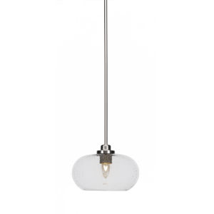 Odyssey Brushed Nickel 10-Inch One-Light Mini Pendant