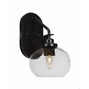 Odyssey Matte Black Seven-Inch One-Light Wall Sconce