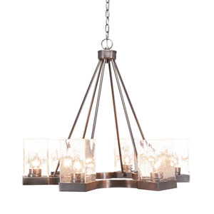 Nouvelle Graphite 26-Inch Six-Light Chandeliers