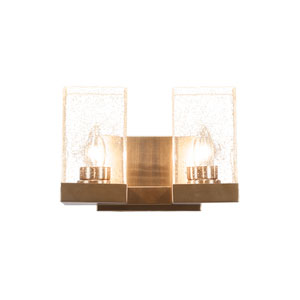 Nouvelle New Age Brass 11-Inch Two-Light Bath Vanity