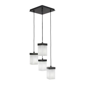 Nouvelle Espresso 13-Inch Four-Light Pendant