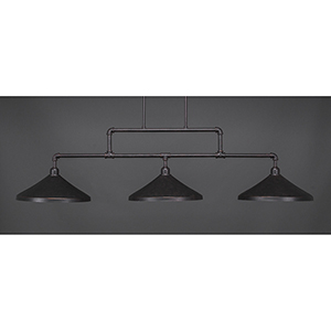 Vintage Dark Granite 14-Inch Three-Light Island Pendant
