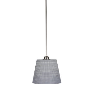 Paramount Brushed Nickel One-Light 10-Inch Pendant with Gray Matrix Glass